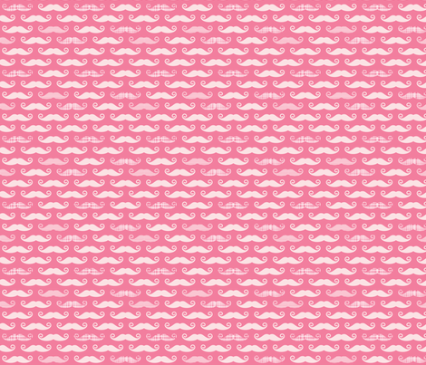 pink stache fabric by whimsiekim on Spoonflower - custom fabric