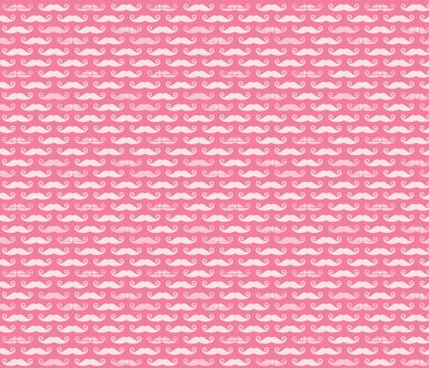 pink stache fabric by whimsiekim on Spoonflower - custom fabric