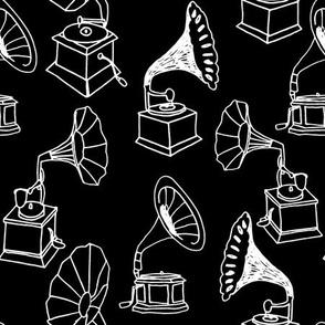 Phonograph - B/W