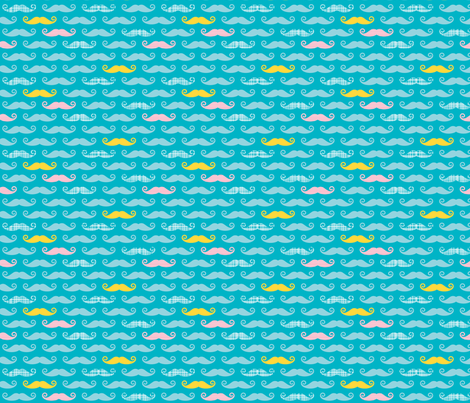 bluestache fabric by whimsiekim on Spoonflower - custom fabric