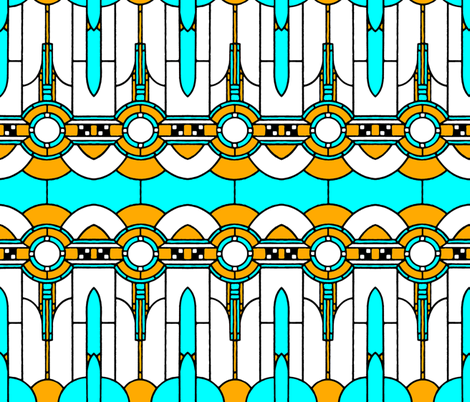 Art_Deco fabric by mammajamma on Spoonflower - custom fabric