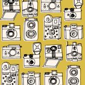 Vintage Cameras - Mustard