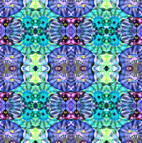 Glass in Aqua and Purple-ed-ed-ed fabric by glennis on Spoonflower - custom fabric