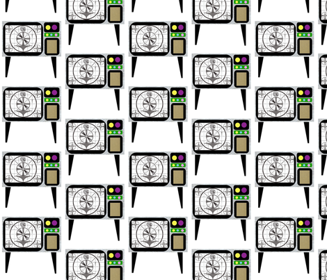 Black-&-White TV Sets fabric by boris_thumbkin on Spoonflower - custom fabric
