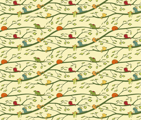 Baby Dragons (tinier) fabric by meduzy on Spoonflower - custom fabric