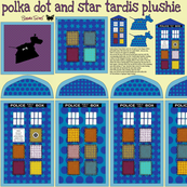 polka dot and star tardis plushie