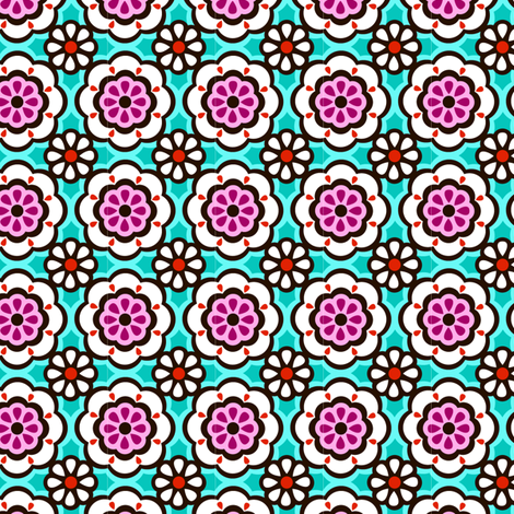 PAISLEY GARDEN geometric floral fabric by juneblossom on Spoonflower - custom fabric