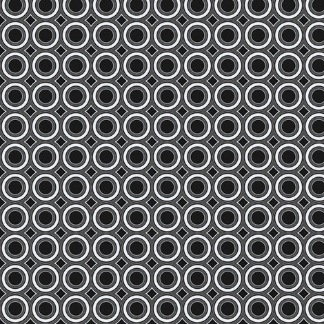 Deco Black and White Circles © Gingezel™ 2012 fabric by gingezel on Spoonflower - custom fabric