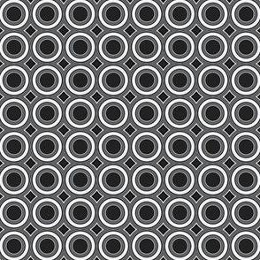 Deco Black and White Circles © Gingezel™ 2012