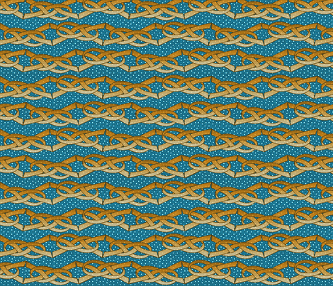 gold_and_blue_ribbons fabric by glimmericks on Spoonflower - custom fabric