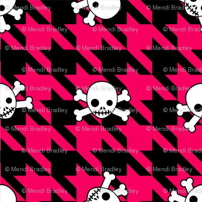 Red Houndstooth & Skulls