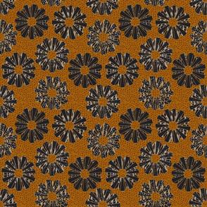 art deco floral on shagreen 4 color-gilded