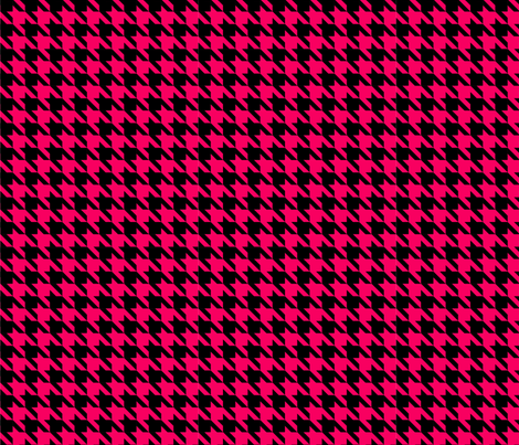 Red Houndstooth fabric by mysteek on Spoonflower - custom fabric