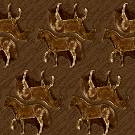 Sorrel Horse 2 fabric by eclectic_house on Spoonflower - custom fabric