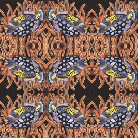 Handsome Fish 2 fabric by clotilda_warhammer on Spoonflower - custom fabric