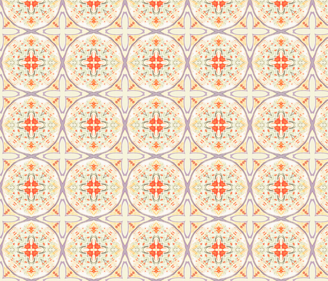 cupcake-bakery014-600coral fabric by wren_leyland on Spoonflower - custom fabric