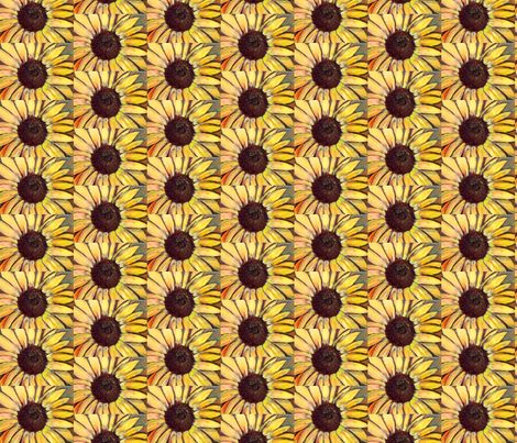 small sunflower pattern fabric by dogdaze_ on Spoonflower - custom fabric