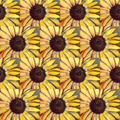 small sunflower pattern