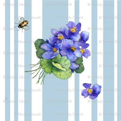 violets variation on blue stripe