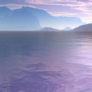 Sci Fi Landscape Crescent Bay © Gingezel™ 2012