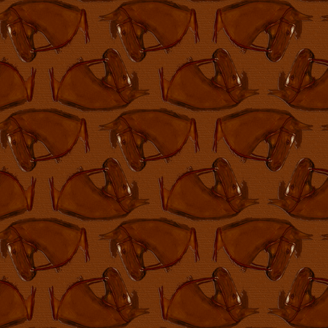 Bridled Bay Horse, Rough Wood fabric by eclectic_house on Spoonflower - custom fabric