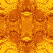 Abstract Yellow Daisy