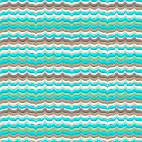 Bargello blue, green and browns fabric by su_g on Spoonflower - custom fabric