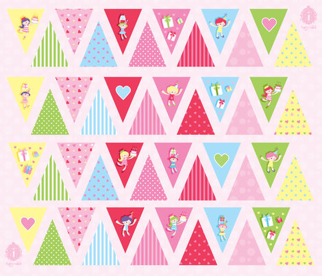 Party Party Bunting fabric by indescribble on Spoonflower - custom fabric