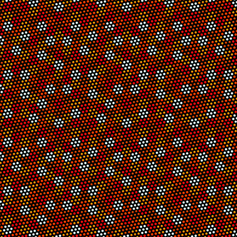 Dots Upon Dots 12 - black background fabric by glimmericks on Spoonflower - custom fabric