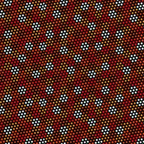 Dots Upon Dots 12 - black background