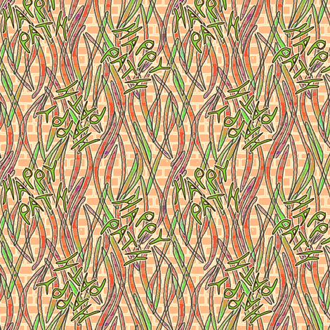 Happy Path Graffitti - Green fabric by glimmericks on Spoonflower - custom fabric
