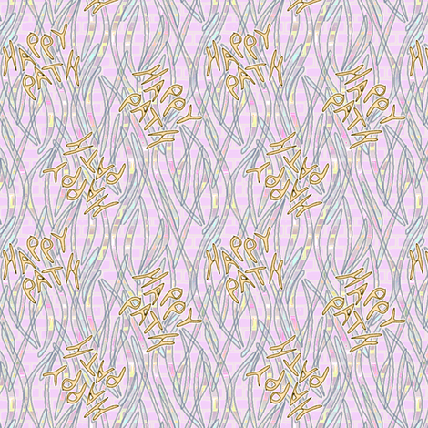 Happy Path Graffitti - Pastel fabric by glimmericks on Spoonflower - custom fabric
