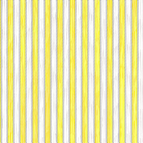 Painterly Lemon Stripe fabric by glimmericks on Spoonflower - custom fabric