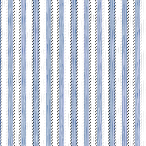 Painterly Cornflower Stripe fabric by glimmericks on Spoonflower - custom fabric