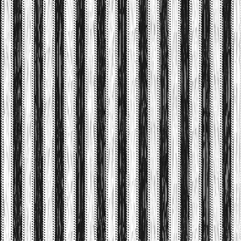 Painterly Black Stripe fabric by glimmericks on Spoonflower - custom fabric