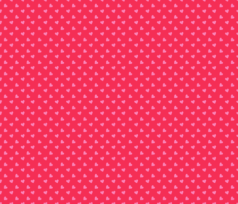 Ditsy Hearts fabric by indescribble on Spoonflower - custom fabric