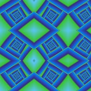 Bluegreen Spiral Staircase