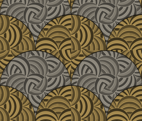 Juxtaposition - Old Steel and Bronze fabric by glimmericks on Spoonflower - custom fabric