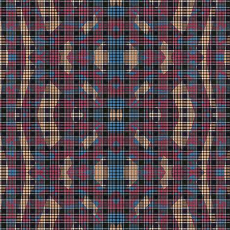 pink_blue_beige_scraps_tartan fabric by vinkeli on Spoonflower - custom fabric