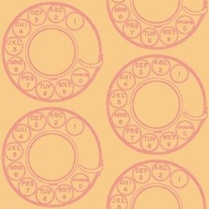 Classic Rotary Dial in pink and peach