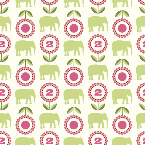 elflo_rosegreen fabric by lilliblomma on Spoonflower - custom fabric