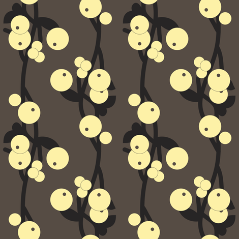 schneebeeren_sun fabric by lilliblomma on Spoonflower - custom fabric