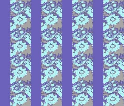daisy stripes, violet blues fabric by nalo_hopkinson on Spoonflower - custom fabric