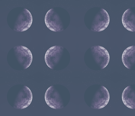 Alien Moon Sinnia in Purple © Gingezel™ 2012 fabric by gingezel on Spoonflower - custom fabric