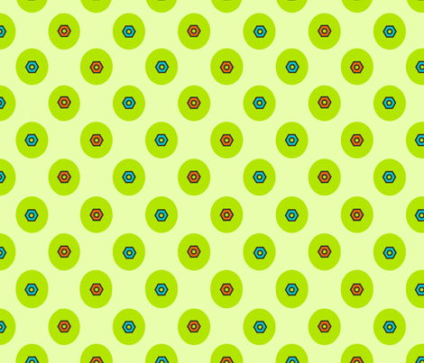 Robot Bolt/Dots Coordinates fabric by thirdhalfstudios on Spoonflower - custom fabric