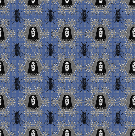 Edgar Allen Poe would have been a black metal fan fabric by susiprint on Spoonflower - custom fabric