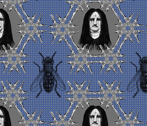 Edgar Allen Black Metal Poe fabric by susiprint on Spoonflower - custom fabric