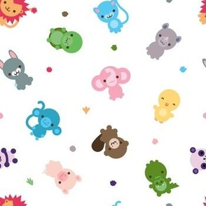 Scattered cute creatures