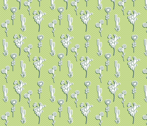 valentineflowers fabric by rhubarbdesign on Spoonflower - custom fabric