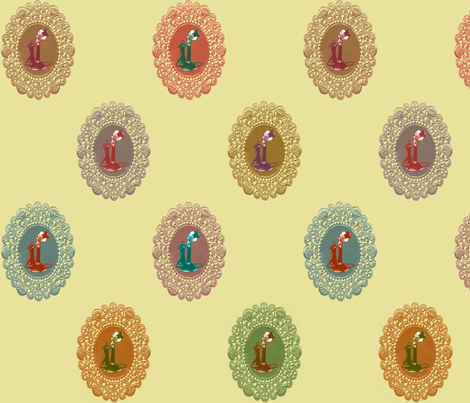 Candlestick_Phones fabric by walkathon on Spoonflower - custom fabric